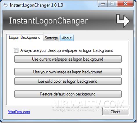 InstantLogonChanger