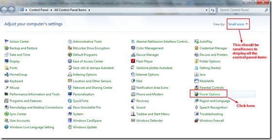 Basic Windows 7 Power Options : Display, Sleep, Power Buttons