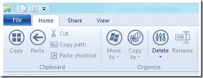 Windows 8 Explorer Ribbon Icons customized
