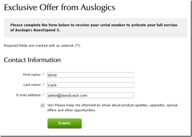 Get Auslogics Boostspeed Code for free
