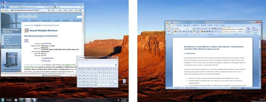 How to Duplicate Taskbar on Second Monitor in Windows 7