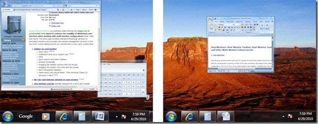 Multi_Monitor_Taskbar_Windows_7_Mirror_Mode