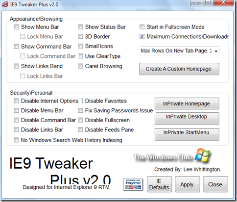 How to Customize Internet Explorer 9 ? 7