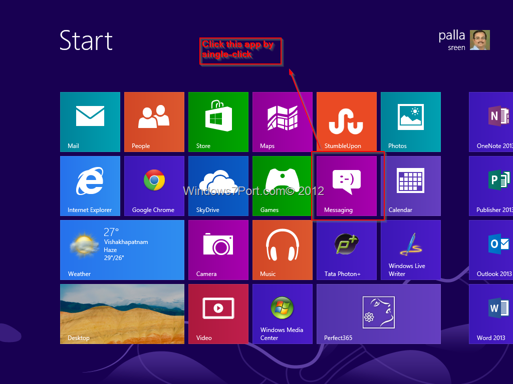 Messaging app windows 8 block all notifications from for Window opens off screen