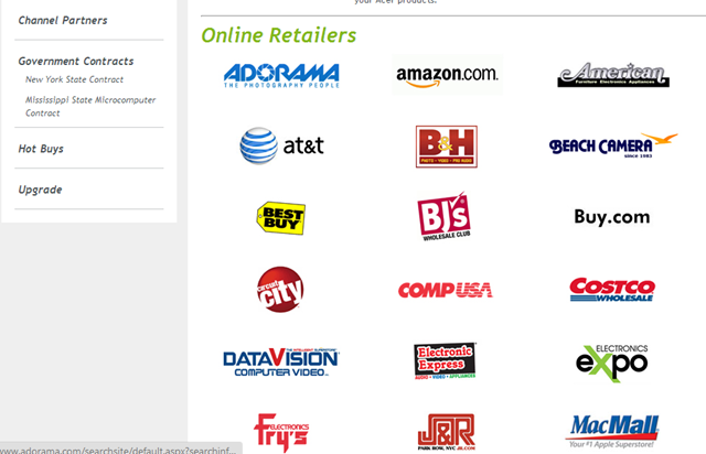Where to buy windows 8 online retailers for List of online retailers