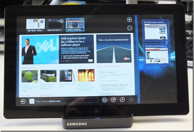 IE 10 on Windows 8 device