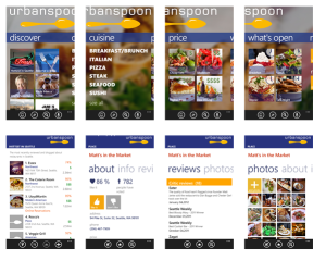 Windows Phone 8 App - Urbanspoon