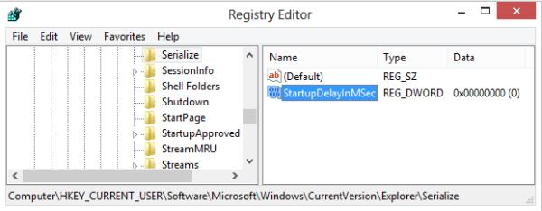 Registry Setting - Speed Up Windows 8 Desktop Apps