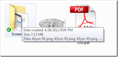 View Folder Size in Windows 8 - Tooltip
