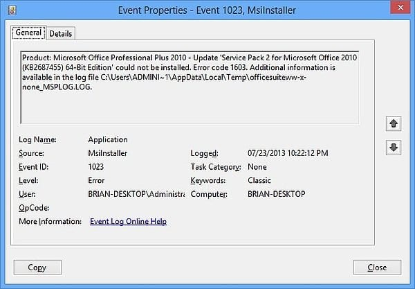 Office 2010 Sp2 For 64bit Edition Failed