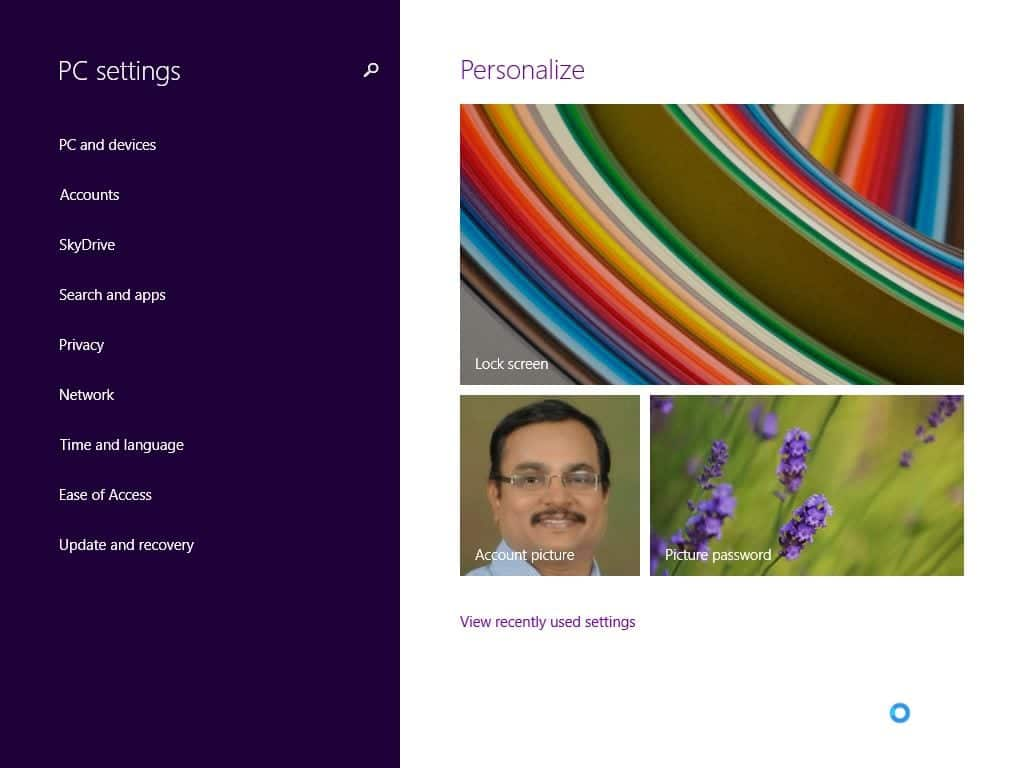 how to close pc settings in windows 8