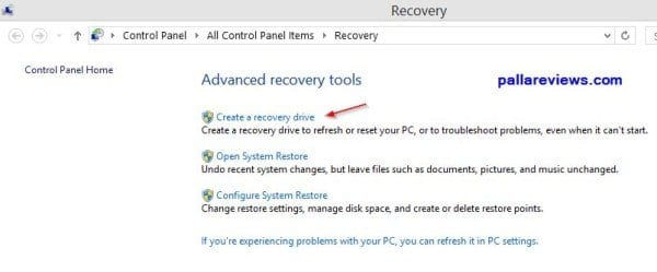 Advanced Recovery Tools Option