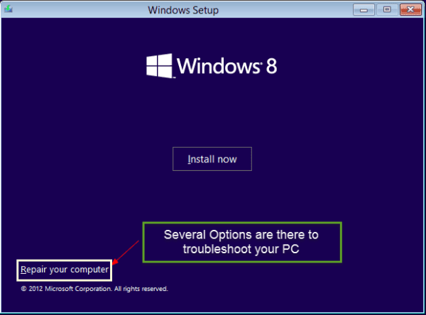 Repair Windows 8 PC