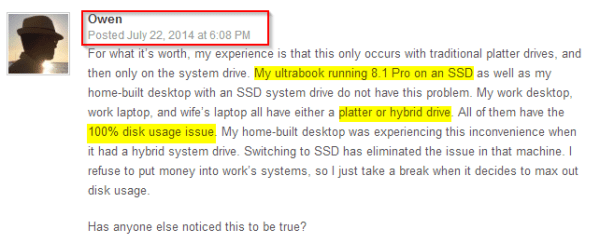 Cause for Windows 8 boot issues - comments