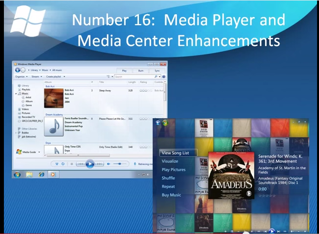 Windows 7 feature improvements