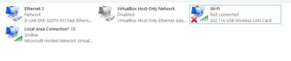 Virtual wireless router with PC - Step 1