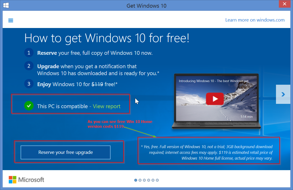 Get Windows 10 Upgrade for Free