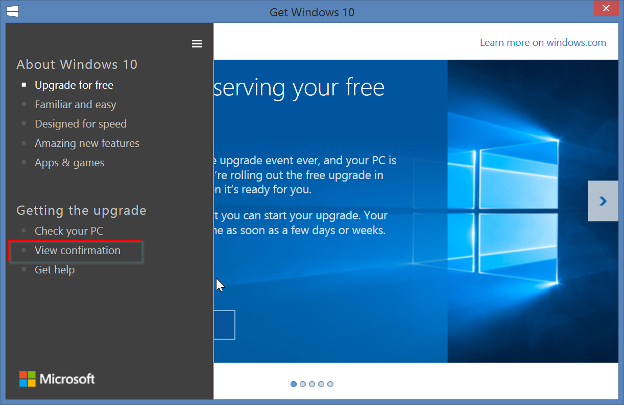 Tutorial How To Reserve And Cancel Your Free Windows 10