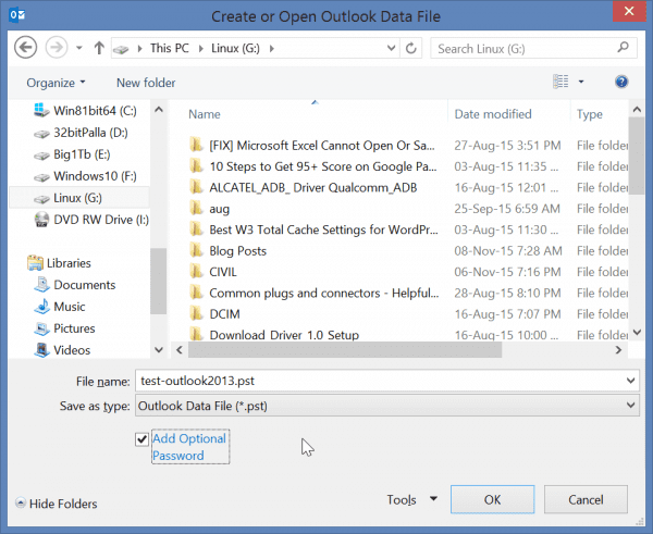 create-pst-file-outlook-2013-optional-password