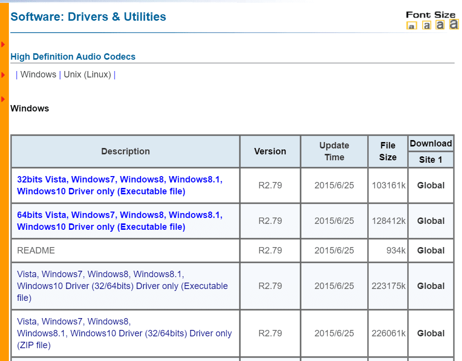 free download audio sound driver windows 7 32 bit