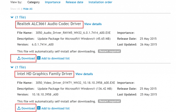 list of HDMI drivers for Windows 10 - Dell
