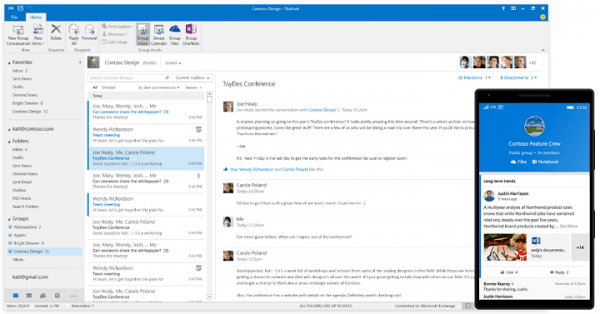 Updates to Office 2016 can fix some issues related to Outllook 2016