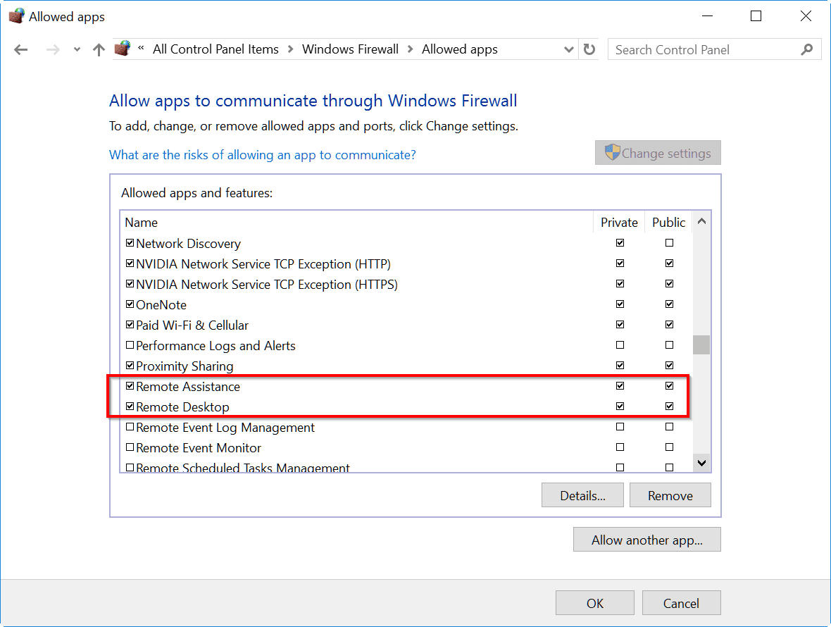 how to allow access through firewall windows 8