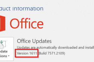finding outlook 2016 version number to fix crashing issue