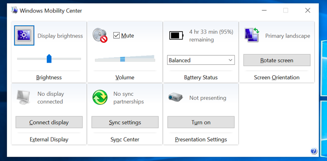 windows-mobility-center-brightness-adjustments