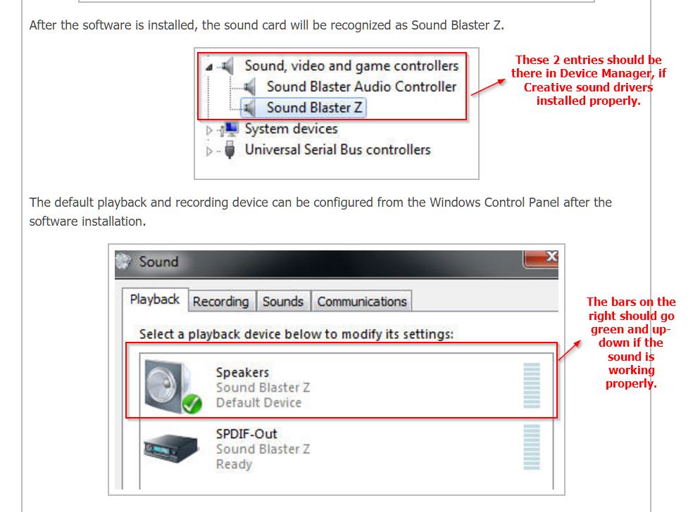fix creative sound blaster z sound not working in windows 10