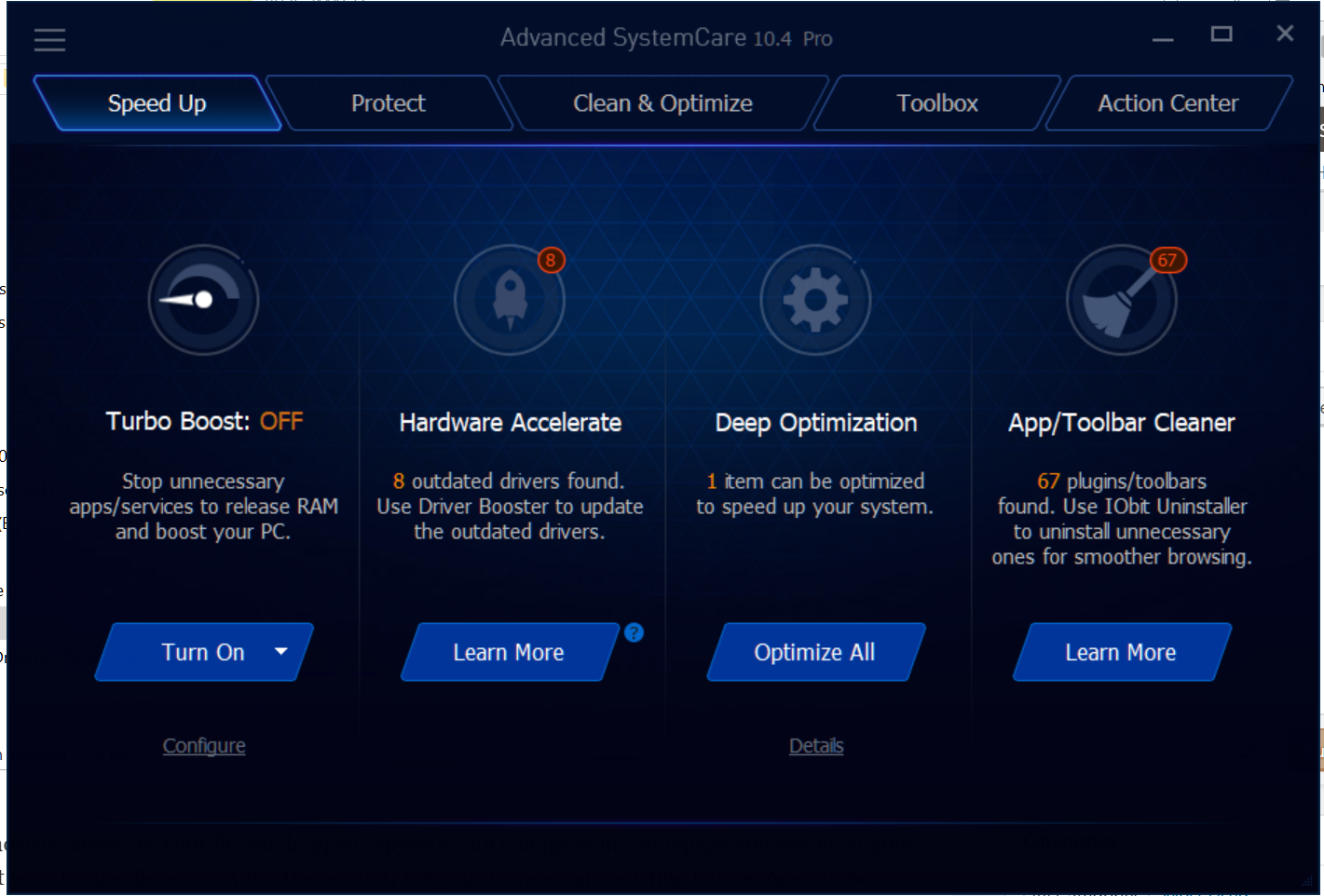 Speed Features Iobit Advanced Systemcare Pro 10 Review Experience