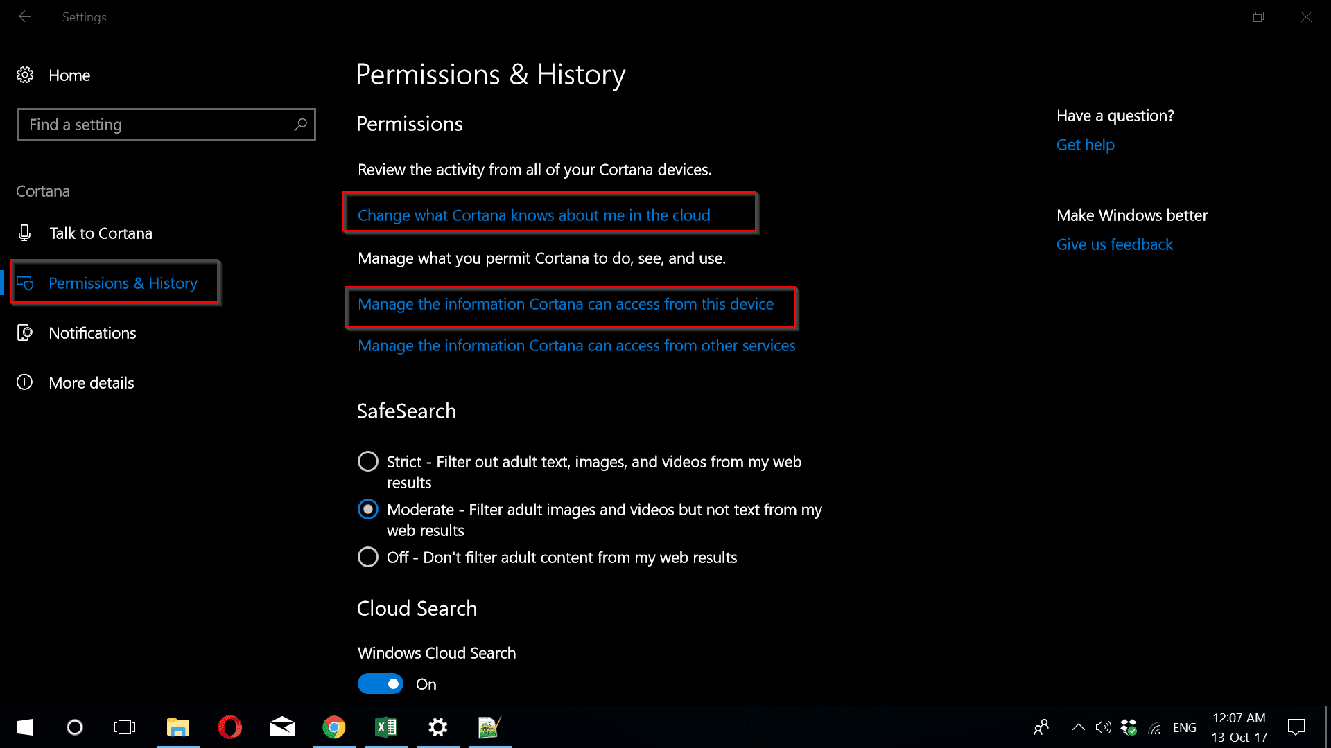"The first option takes commands on saying ""Hey Cortana"" just like in the  previous versions. But you can switch it off to save battery if you like."