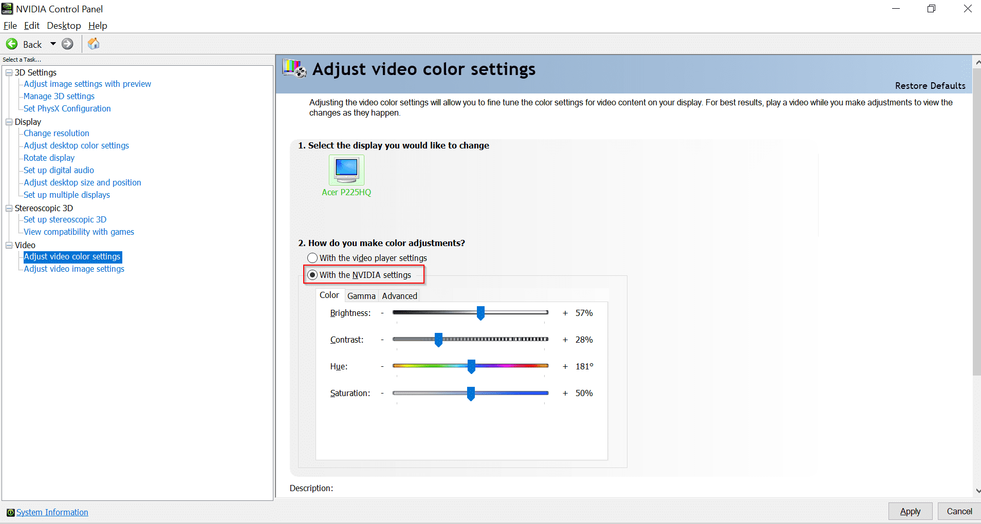 How to Fix NVidia Color Settings Resetting in Windows 10 or