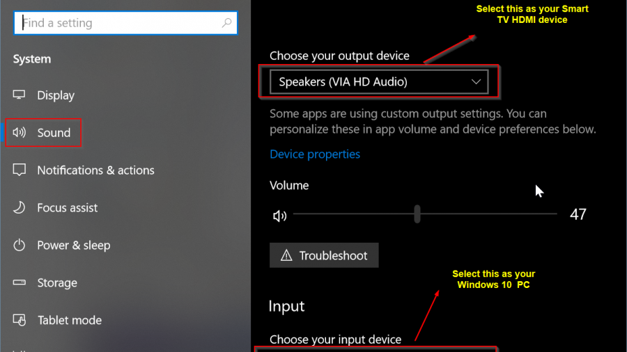 Fix HDMI Sound Not Working in Smart TV when connected to Windows PC