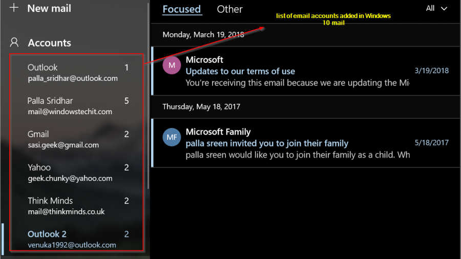 How To Add Email Accounts in Windows 10 Mail Store App? Exchange, Outlook.com, Gmail, Yahoo, Internet Email etc