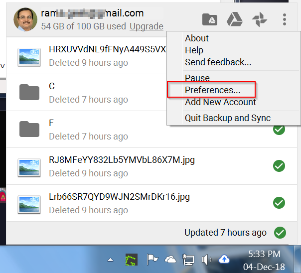Google Drive Preferences – What are the Settings of