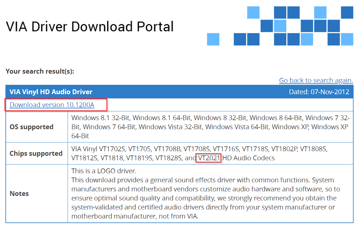 sound driver for windows 10 32 bit