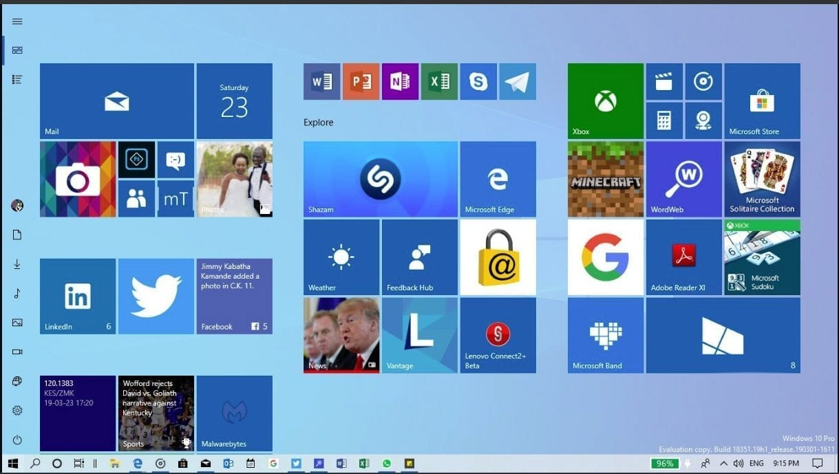 Windows 10 19H1 – May 2019 Update – New Features