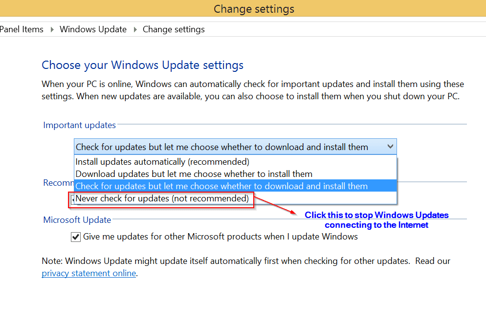 Win 8 checking for updates | How to Download Updates in