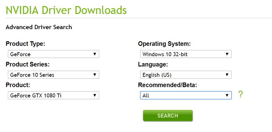 nvidia vga driver windows 10 64 bit