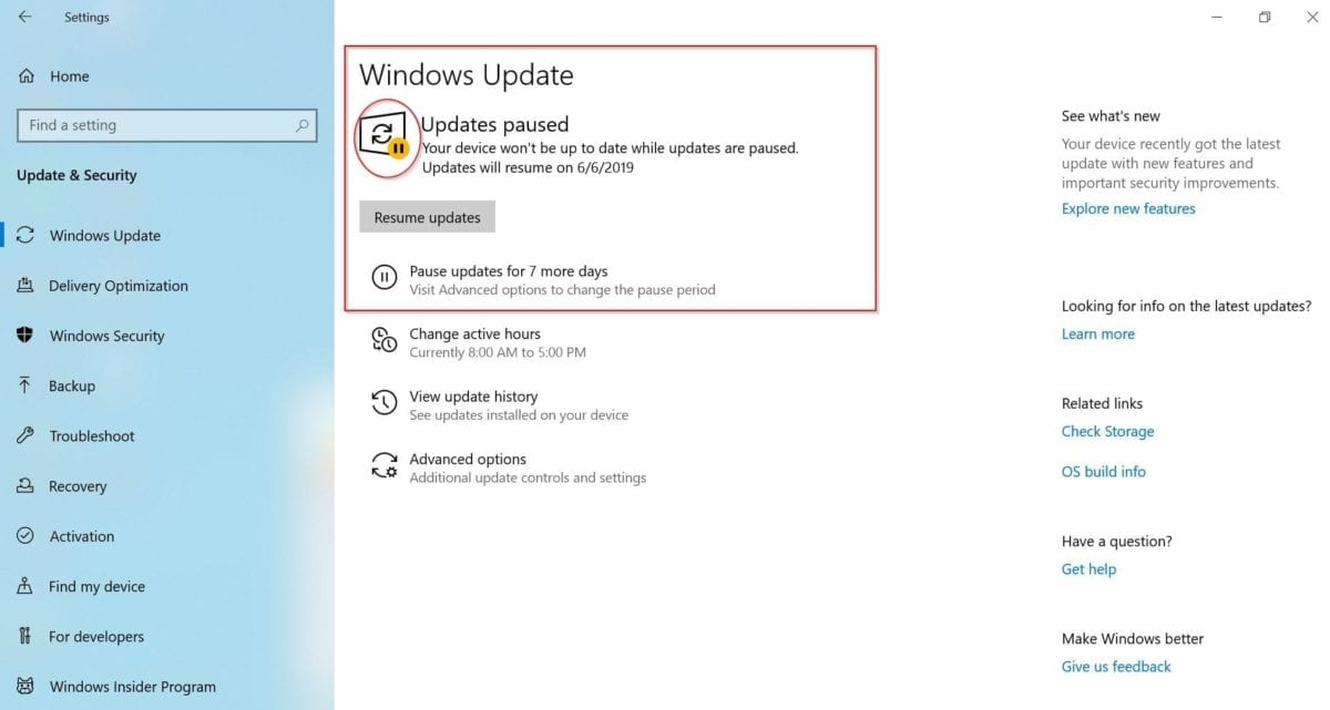 windows 10 1903 update setting   what are the new options
