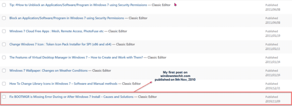 palla sridhar initial windows articles