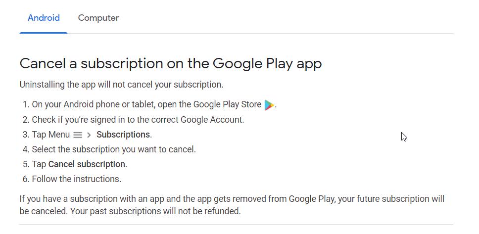 how to cancel truecaller premium subscription