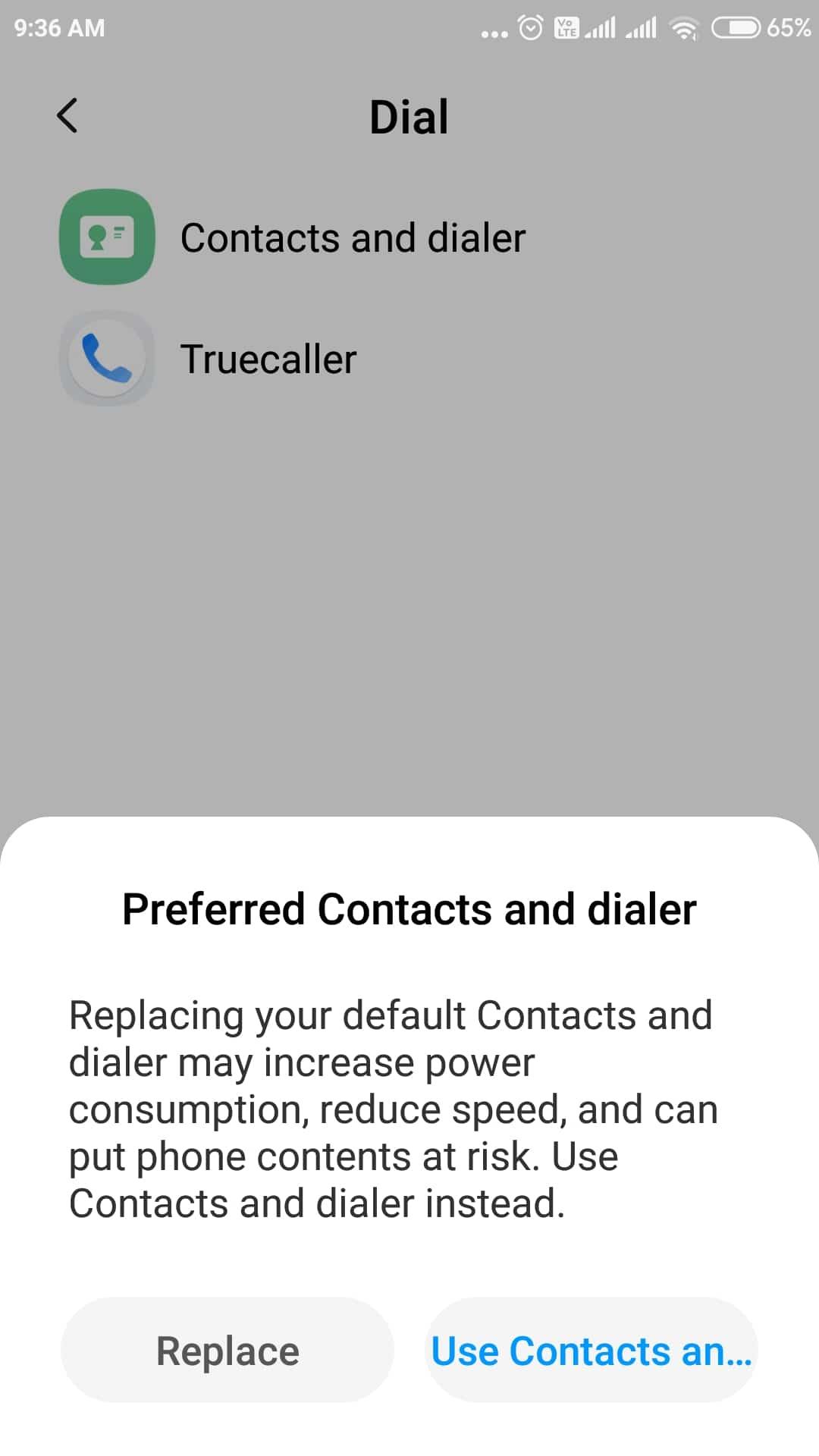 how to set truecaller as default dialer
