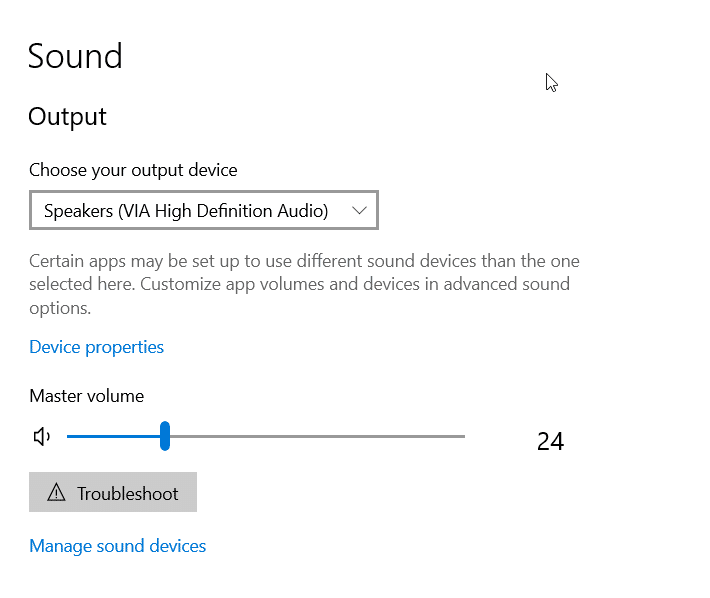 windows 10 audio not working