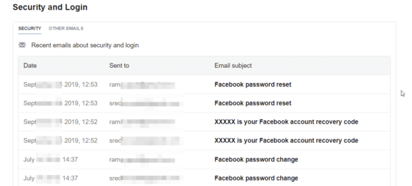 official email notifications from facebook