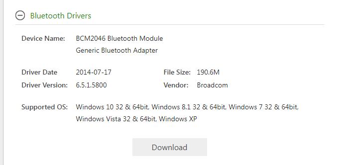 bluetooth drivers for windows 10 64 bit