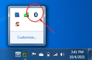 bluetooth is visible windows