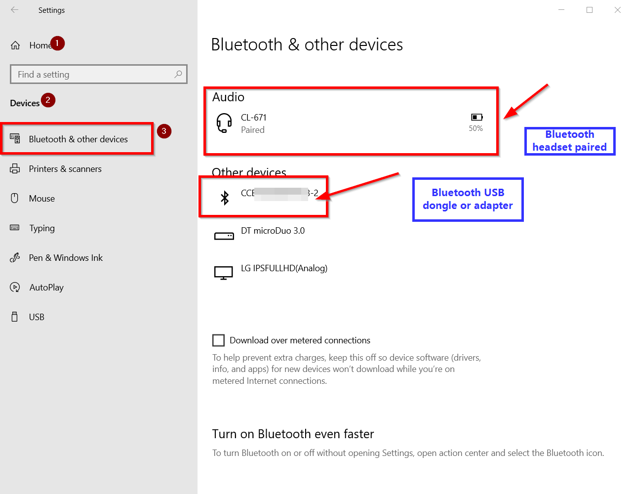 enable bluetooth setting windows