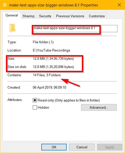 folder properties windows 10